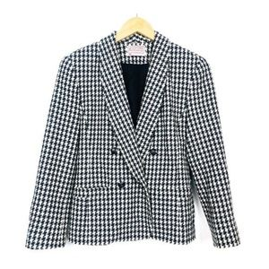 PENDLETON Vintage Houndstooth Button Up Blazer 4